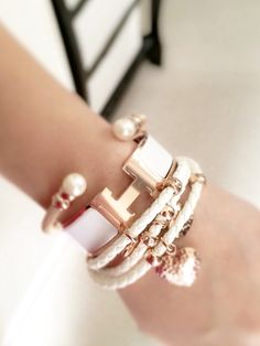 Hermes Clic Clac Wide Rose Gold