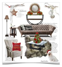 """Preparing Christmas"" by angelicallxx ❤ liked on Polyvore featuring interior, interiors, interior design, home, home decor, interior decorating, Baxton Studio, Uttermost, Décor Therapy and St. Nicholas Square"