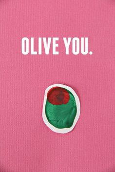 Olive You! Fingerprint art for Valentines Day or any day.