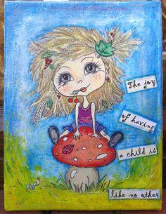 Irena's art mixed media canvas