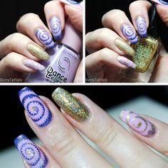 BunnyTailNails: Hypnotic manicure