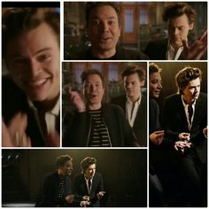 Harry with Jimmy Fallon