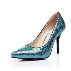 Nine Seven Womens Genuine Leather Pointy Toe Stiletto Heel Handmade Pump