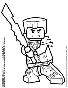 lego ninjago drawings of zane season    Ninjago Zane KX In Elemental Robe Coloring Page