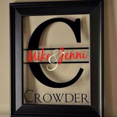 Pictures frame monograms