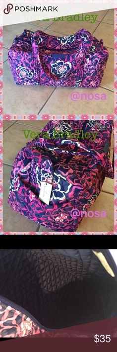 ☘️Vera Bradley☘️Small Duffel Katalina Pink Carry ⚡️Price Firm ⚡No Trades!! ❤Very light and foldable! Carry on size!  ❤Size: 18.5x 9.5x 9.5  ❤New with tags ❤Color: Katalina Pink ❤Check my other Vera Bradley items!! 9209-9369 Vera Bradley Bags Travel Bags