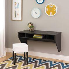 Contemporary Floating Desk - Washed Ebony | Best Buy Canada