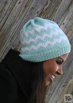 Chevron pattern for a loom knit hat!