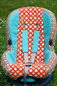 How to make a car seat cover... might be interested in this once I get tired of seeing the original car seat cover, haha.