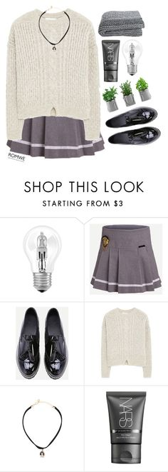 """""""#Romwe"""" by credentovideos ❤ liked on Polyvore featuring Osram, MANGO and NARS Cosmetics"""