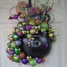 Bubble, Bubble, Boil and Trouble! Cute Halloween Door decoration.
