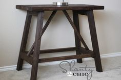 Ana White | Build a Truss End Table | Free and Easy DIY Project and Furniture Plans
