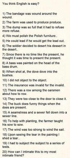 The English language easy!