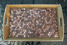 Never thought about using pennies for a mosaic before, brilliant!