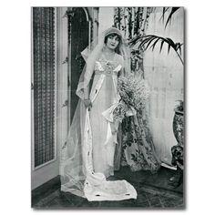 Lily Elsie in Vintage Bridal Gown Postcard