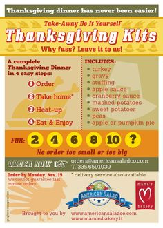 Thanksgiving Take-away in Florence. Eat out in!