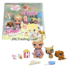 MGA Entertainment Bratz Lil' Angelz Series 4 Inch Doll Set - STICKY FACE FUN FAIR with CLOE (#783), Dachshund (#787), Pony (#785) & Many Accessories