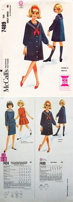 McCall's 7489 by Helen Lee © 1964.  With 1966 counter catalog page.