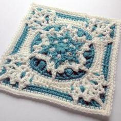 Blizzard warning square crochet pattern