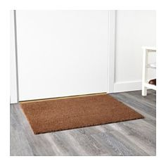 IKEA - TRAMPA, Door mat, natural, Easy to keep clean - just vacuum or shake the rug. The backing keeps the door mat firmly in place and reduces the risk of slipping. The rug is machine-tufted. Natural Door Mats, Bicycle Garage, Latex, Small Entrance, Mat 10, Cheap Doors, Personalized Door Mats, Coir, Affordable Furniture