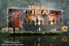 Richele Christensen for Sizzix: Halloween decor  http://sizzixblog.blogspot.com/2012/10/die-cutting-paper-fun-halloween-decor.html?showComment=1350434370471#