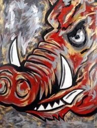 Razorback painting Colorback II is the product of local artist Jason Lahay, a Mid-South artist and continues to gain recognition.