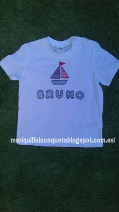 Camiseta patchwork barco