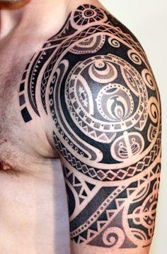 Daemonic Tribal Polynesian inspired design