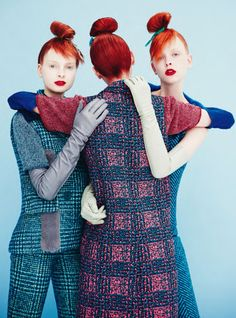 Dani Witt, Dasha Gold, Lera Tribel by Erik Madigan Heck for Harper's Bazaar UK August 2015