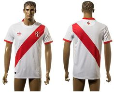 Peru Blank White Home Soccer Country Jersey jerseys for sale cheap authentic