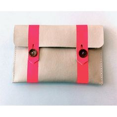 Neon Pink and Cream Leather Satchlet (via rare device)