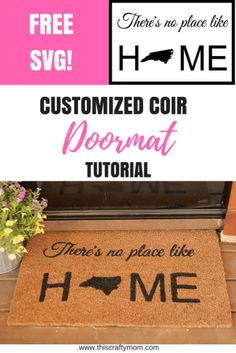 DIY Coir Doormat - This Crafty Mom Want to make your own custom coir doormat? Check out this tutorial for step by step directions and a free SVG! Homemade Crafts, Easy Diy Crafts, Home Crafts, Diy Art, Diy Home Decor Rustic, Diy Christmas Gifts For Family, Coir Doormat, Diy Wall Shelves, Décor Boho