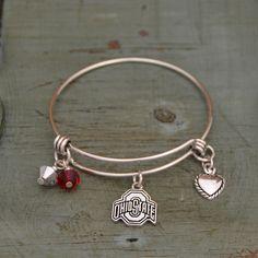 Ohio State Buckeyes Bangle Bracelet
