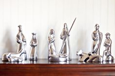 Old Town Imports Aluminum Serveware Nativity Set (13 pc) {PRESALE ONLY}. $129.99 regularly $219.99