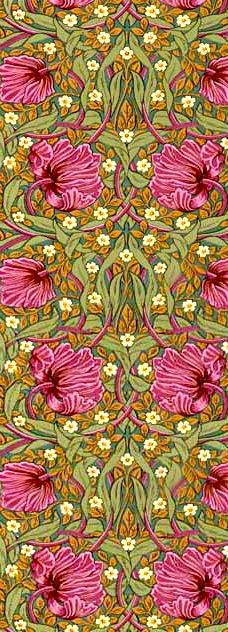 Wiliam Morris (arts  crafts movement) - i love the leaf background with the use of a singular colour flower - elegant