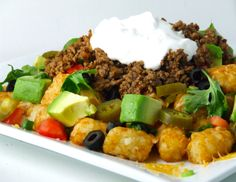 Totchos - would have to make without cheese and sour cream