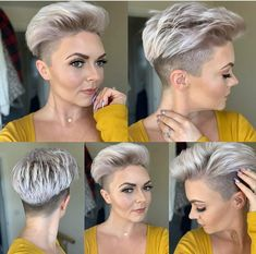 nice 25 Best Short Pixie Haircuts for Looking for best short pixie haircuts? From classic icons to modern muses, these are the celebrities who prove the versatility of the cool cut. P…, Pixie Haircuts medianet_width = medianet_height = medianet_crid = . Short Grey Hair, Short Hair Cuts For Women, Short Hairstyles For Women, Short Hair Styles, Short Wavy Haircuts, Sassy Haircuts, Undercut Hairstyles, Pixie Hairstyles, Corte Y Color