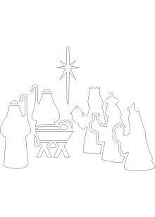 Free Printable Nativity Stencil