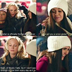 "#TVD 6x10 ""Christmas Through Your Eyes"" - Caroline, Bonnie and Elena (Flashback)"