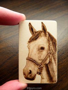 Horse - Mini woodburning by brandojones.deviantart.com on @DeviantArt