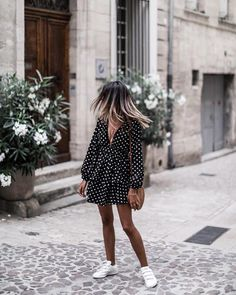 Sneakers For Girl : Picture DescriptionFind Out Where To Get The Romper Classy Outfits, Casual Outfits, Cute Outfits, Spring Summer Fashion, Spring Outfits, Nice Dresses, Casual Dresses, Dress Outfits, Fashion Outfits