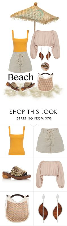 """Beach Fashion"" by karen-galves ❤ liked on Polyvore featuring Marni, Cult Gaia, Proenza Schouler and Wolf & Moon"