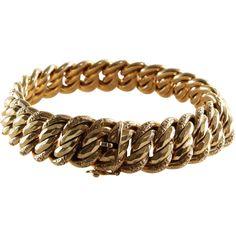 Gold Link Bracelet | 18K Yellow | Vintage France PC Paris