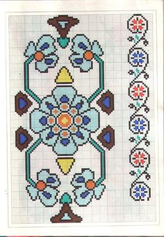Border pattern/ chart for cross stitch, crochet, knitting, knotting, beading, weaving, pixel art, and other crafting projects
