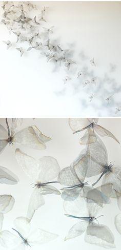 michelle mckinney - ultrafine, woven metal butterflies