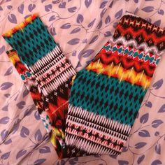 Tribal/Aztec leggings Tribal printed leggings (never worn) Pants Leggings