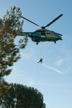 Late Post: Jan 18, 2013. Rapelling from Air-5 Super Puma Helicopter. (Photo Credit: C. Miller) http://www.SEB.lasd.org/