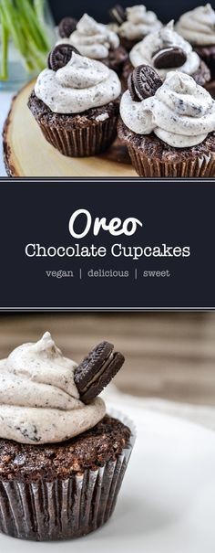 These are not healthy cakes - they are tempting, Oreo filled beauties! Interested? Get your bake on with these vegan Oreo chocolate cupcakes now.