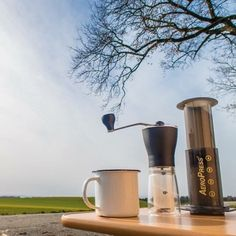 Brew anywhere | AeroPress Starter Bundles on sale for a limited time! Shop NOW  @originalaeropress Link in Bio  by @vanabout by originalaeropress