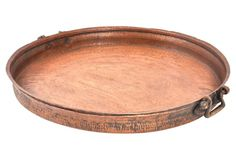 """Antique Copper Tray from India 